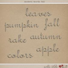 Modern Words: Fall by Sahlin Studio