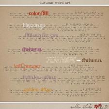 Autumn Word Art by Sahlin Studio