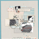 digital scrapbook layout featuring Frosted Acrylic Alpha by Sahlin Studio