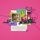 digital scrapbooking layout featuring Text on Path: Fun by Sahlin Studio