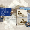 digital scrapbooking layout featuring The Good Life Word Art by Sahlin Studio