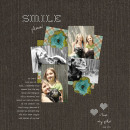 digital scrapbooking layout featuring home sweet home stitched by sahlin studio
