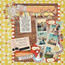digital scrapbooking layout featuring Retro Journaling Cards by Sahlin Studio