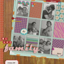 digital scrapbooking layout featuring Kaleidoscope Papers by Sahlin Studio