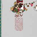 digital scrapbooking layout featuring Knit Alpha by Sahlin Studio