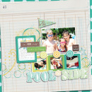 digital scrapbooking layout featuring Ledger Papers by Sahlin Studio
