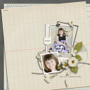 digital scrapbooking layout featuring Ledger Papers and Pressed Petals by Sahlin Studio