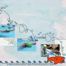 digital scrapbooking layout featuring Doodle-y Loops by Sahlin Studio