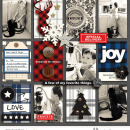 December Daily JOY digital scrapbook layout featuring Mad For Plaid by Sahlin Studio
