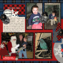 December Daily Christmas digital scrapbook layout featuring Mad For Plaid by Sahlin Studio