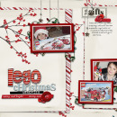 digital scrapbooking layout featuring Holiday Mixed Media by Sahlin Studio