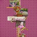 digital scrapbook layout featuring Autumn Mixed Media by Sahlin Studio