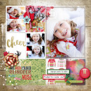 Christmas Digital scrapbooking inspiration using Number Stamps & MPM Magic by TLP & Sahlin Studio