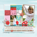 digital scrapbooking layout featuring Paper Block and Strip Templates by Sahlin Studio