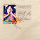 digital scrapbooking layout featuring Plastic Tile Alpha by Sahlin Studio