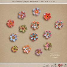 Handmade Paper Flowers: Autumn Sunset by Sahlin Studio