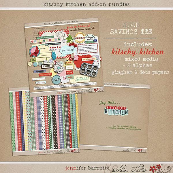 Kitschy Kitchen: Add On Bundle by Jenn Barrette and Sahlin Studio