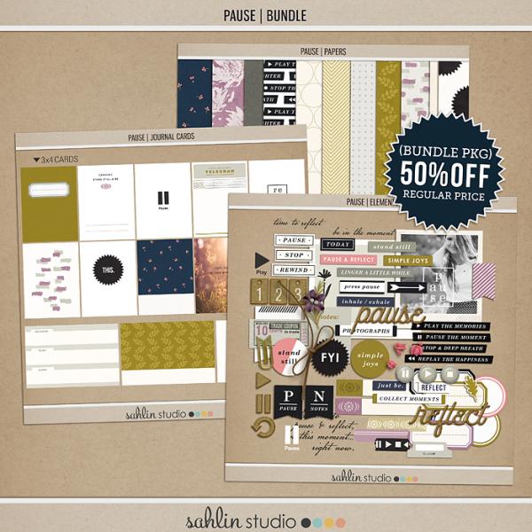 Pause   BUNDLE by Sahlin Studio - Gratitude Scrapbook Kit