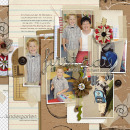digital scrapbooking layout featuring modern words: school grades by sahlin studio