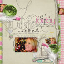 digital scrapbooking layout featuring Sweet and Skinny Alpha by Sahlin Studio