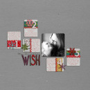 digital scrapbooking layout featuring Knitted Crochet Snowflakes by Sahlin Studio