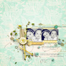 digital scrapbooking layout featuring stacked templates by sahlin studio