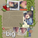 digital scrapbooking layout featuring Tell the Story Templates vol. 1 by Sahlin Studio