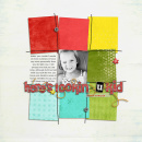 digital scrapbooking layout featuring Striped Candy Alpha by Sahlin Studio