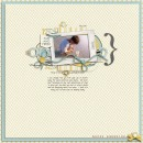 digital scrapbooking layout featuring Sunny with Blue Skies by Sahlin Studio