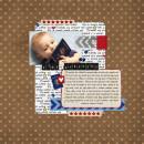 digital scrapbooking layout featuring Tiny Black Alpha by Sahlin Studio