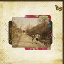 digital scrapbook layout featuring Whispers: Fall by Sahlin Studio