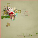 digital scrapbook layout featuring Whispers: Nature by Sahlin Studio