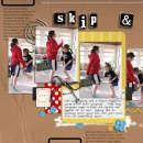 digital scrapbook layout featuring Worn Scuffed Chipboard Alpha by Sahlin Studio