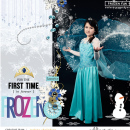 Disney's Frozen costume digital scrapbook page featuring Project Mouse: Ice by Britt-ish Designs and Sahlin Studio