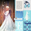 Disney's Elsa digital Project Life layout featuring Project Mouse: Ice by Britt-ish Designs and Sahlin Studio
