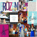 Disneyland's Frozen digital Project Life page featuring Project Mouse: Ice by Britt-ish Designs and Sahlin Studio