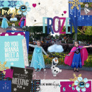 Disney's Frozen Digital Scrapbook page featuring Project Mouse: Ice by Britt-ish Designs and Sahlin Studio