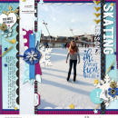 Skating digital scrapbooking page featuring Project Mouse: Ice by Britt-ish Designs and Sahlin Studio