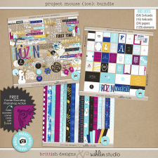 Project Mouse: Ice (BUNDLE) by Britt-ish Designs and Sahlin Studio - Perfect for your Project Life or Project Mouse albums for scrapbooking Disney's Frozen or other magical winter memories.