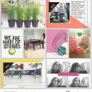 WE Are Made of Stories Project Life inspiration featuring Photo Tabs and Calendar Cards by Sahlin Studio