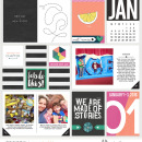 January 1-3 Project LIfe inspiration featuring Photo Tabs and Calendar Cards by Sahlin Studio
