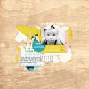 #HeartYou Digital scrapbooking page using Totes Adorbs by Sahlin Studio