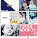 Adorbs Hybrid Project Life page using Totes Adorbs by Sahlin Studio