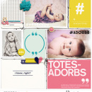 Totes Adorbs Digital Project Life page using Totes Adorbs by Sahlin Studio
