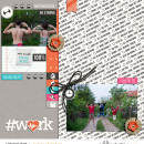#Work digital scrapbooking page using Love your Body by Sahlin Studio