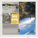 Keep Going pocket scrapbooking page using Love your Body by Sahlin Studio