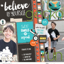 Believe in Yourself digital scrapbooking page using Love your Body by Sahlin Studio