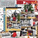 Disney Dream Big digital scrapbooking page using Project Mouse: Classic by Britt-ish Designs and Sahlin Studio