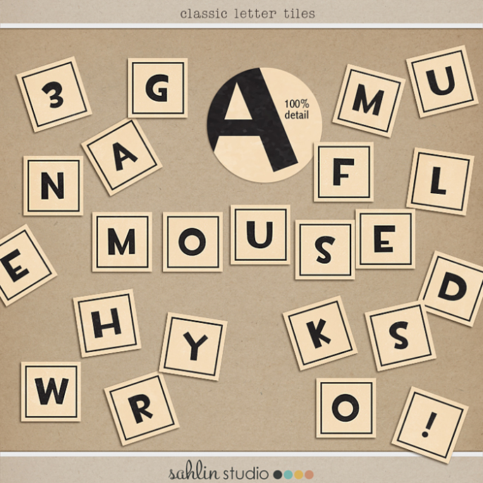Classic Letter Titles by Sahlin Studio FREEBIE - Perfect for Disney or Everyday Scrapbooking