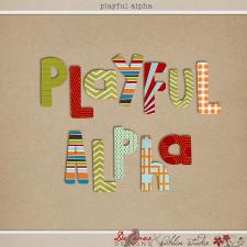 Playful Alpha by DeCrow Designs and Sahlin Studio